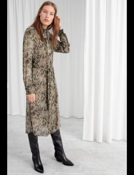 Tendance python : robe