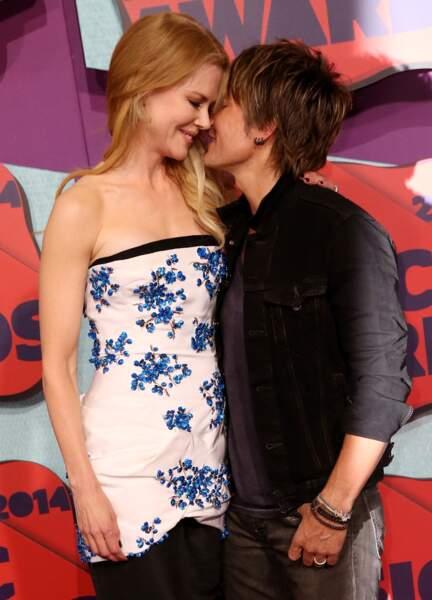 Nicole Kidman et Keith Urban à la cérémonie des CMT Music Awards à Nashville en 2014.