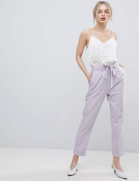 Pantalon : paperbag