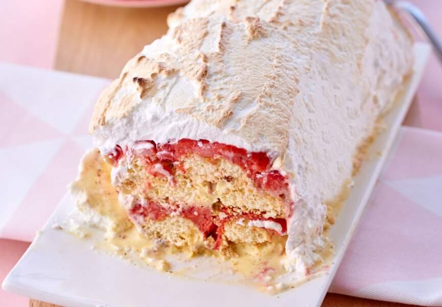 Omelette norvégienne fraise-noisette