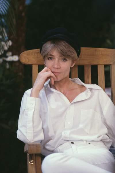 Portrait de Françoise Hardy en 1989.