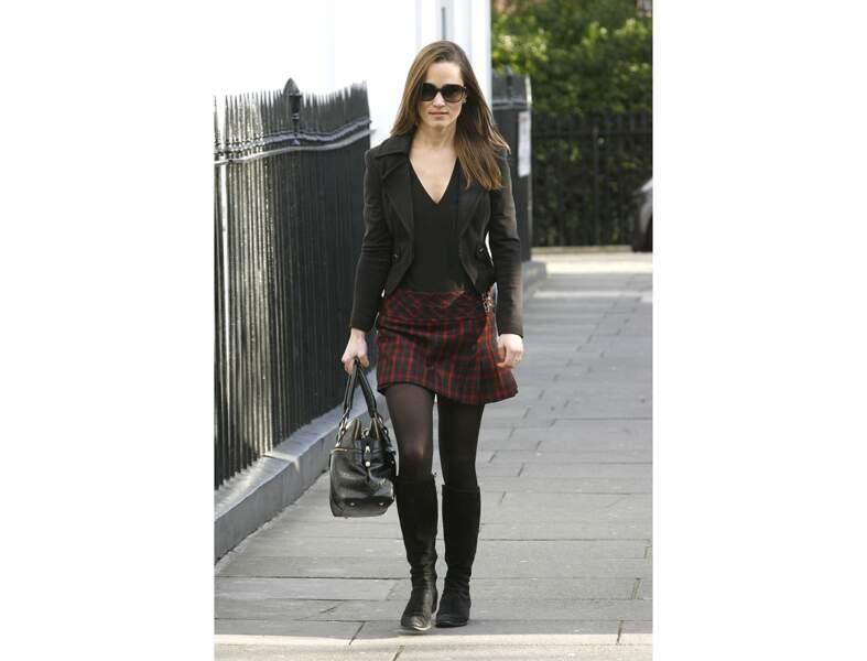 Pippa Middleton : la jupe tartan