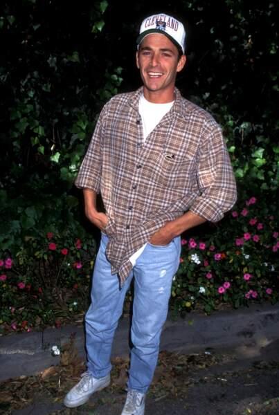 Luke Perry lors d'un évènement caritatif contre le cancer des enfants en 1996.