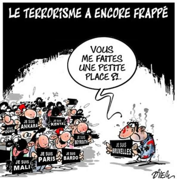 Trop, c'est trop, semble suggérer le caricaturiste algérien Ali Dilem