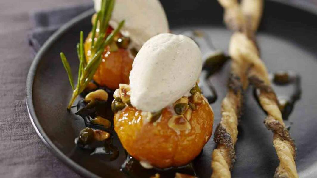 Mandarines rôties aux fruits secs d'Hélène Darroze