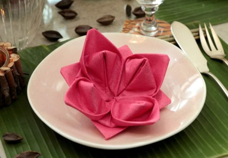 La fleur de lotus en papier