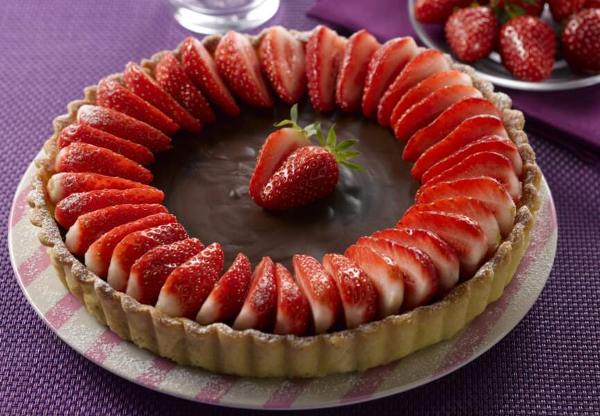 Tarte choco-fraise