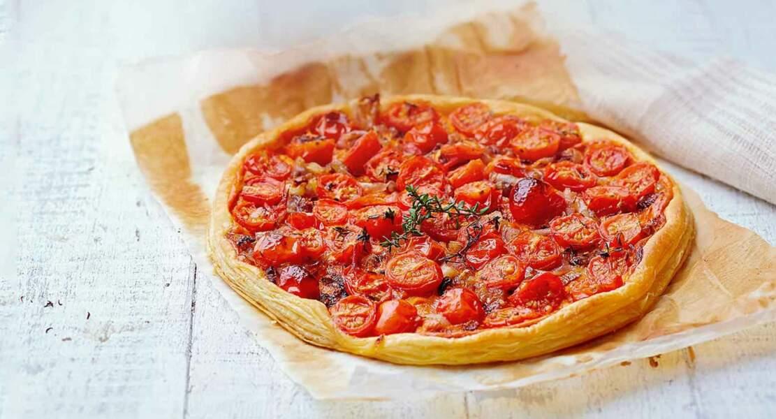 Tarte fine tomates-échalotes par Laurent Mariotte