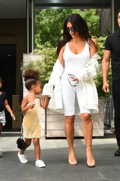 Kim Kardashian et North West : lumineuses