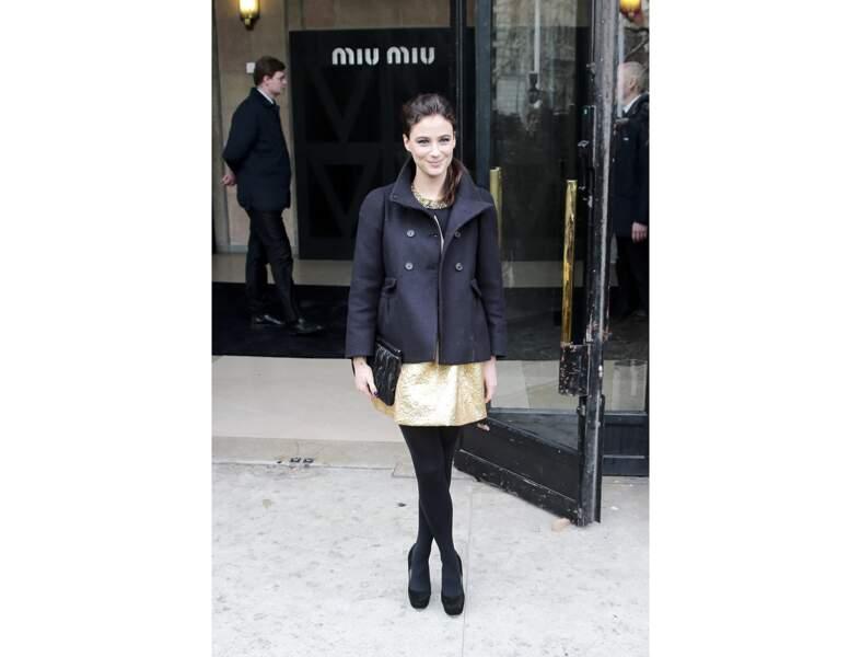 Mélanie Bernier : la jupe habillée