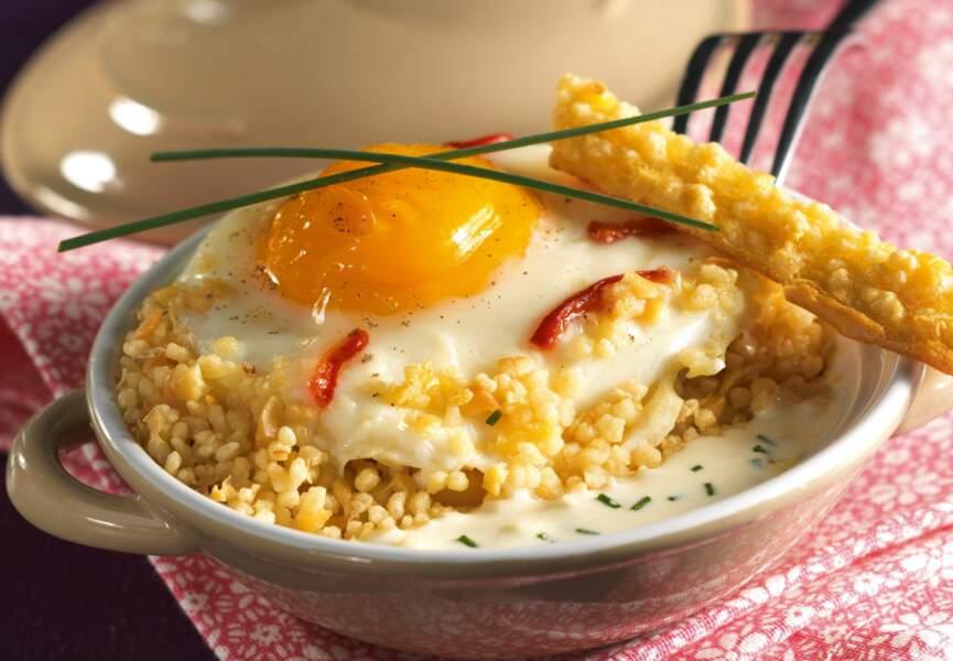 Vendredi : mini-cocottes d'œufs aux Céréales Gourmandes & au maroilles