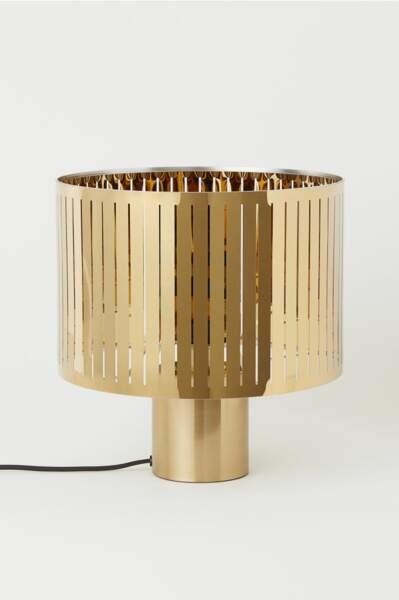Grande lampe de table en métal