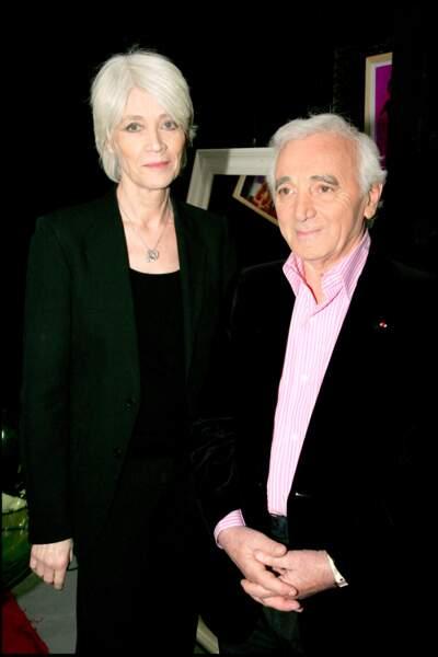 Françoise Hardy et Charles Aznavour en 2006.