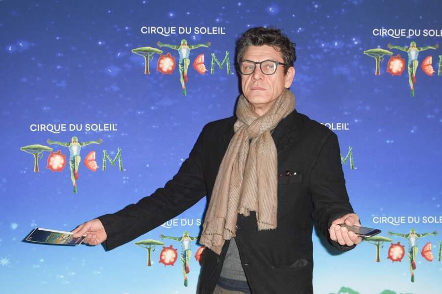 """Marc Lavoine à la première du spectacle """"Totem"""" du Cirque du Soleil à Paris le 30 octobre 2018."""