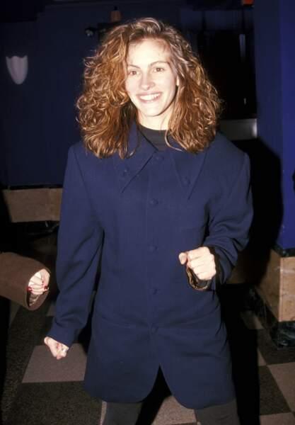 """Julia Roberts en 1992 à la soirée de gala pour la pièce """"Un tramway nommé désir"""" à New York"""
