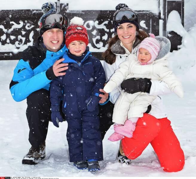 Kate, George, William et Charlotte