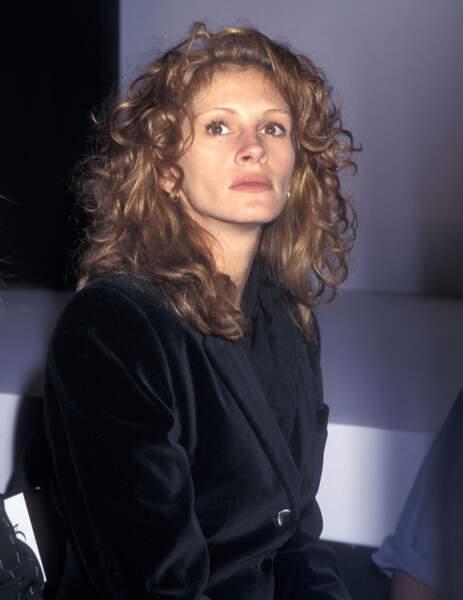 Julia Roberts à la fashion week de New York en 1995