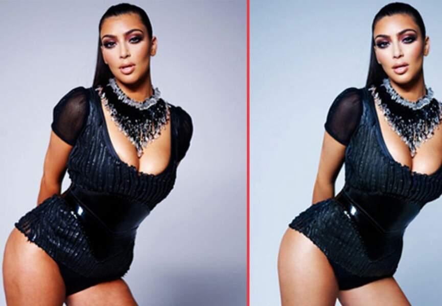 Kim Kardashian, les cuisses lisses en plus