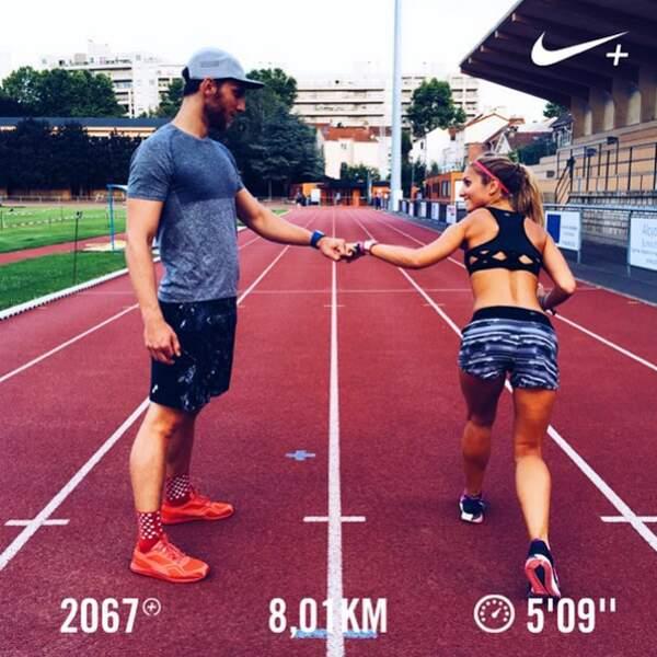 J'adore courir avec mon petit ami