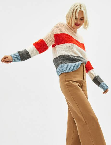 Gros pull : colorblock