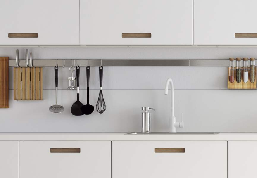Crédences : le revêtement blanc Ikea