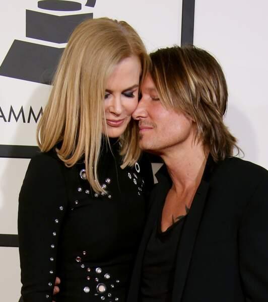 Nicole Kidman et Keith Urban à la 57ème cérémonie des Grammy Awards à Los Angeles le 8 février 2015.