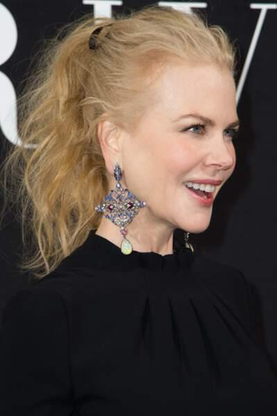 La queue-de-cheval wavy de Nicole Kidman