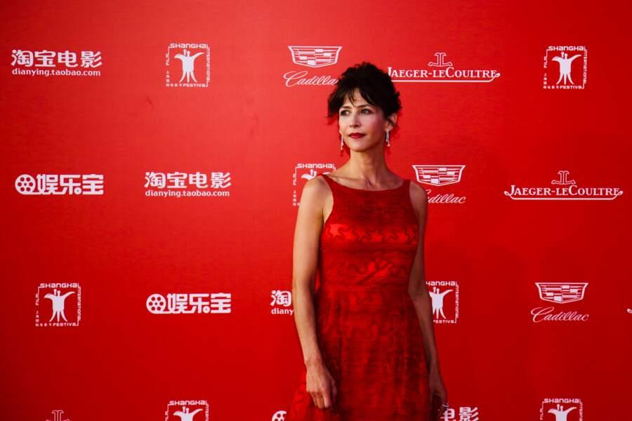 Sophie Marceau à Shanghai pour le festival international du film en juin 2015.