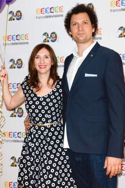 Eric Antoine et sa femme Calista Sinclair au photocall de France Télévisions le 29 juin 2016