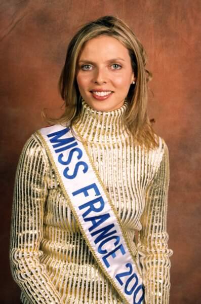 Sylvie Tellier en 2002, fraîchement élue Miss France de l'année