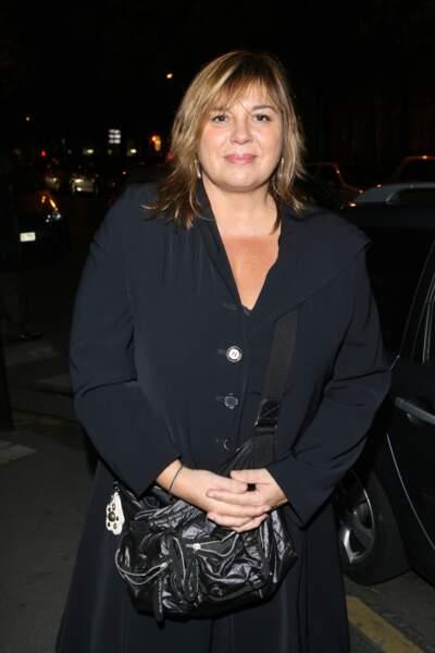 """Michèle Bernier au théâtre Hébertot pour la générale de la pièce """"Clérambard""""en 2008."""