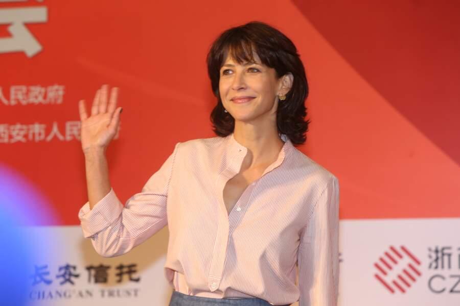Sophie Marceau à Xian en Chine en septembre 2016 pour le festival international du film de la Route de la Soie.