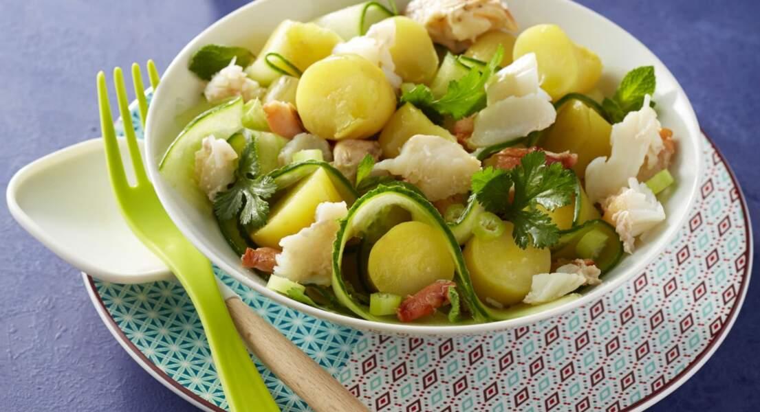 Salade de ratte au concombre et au crabe