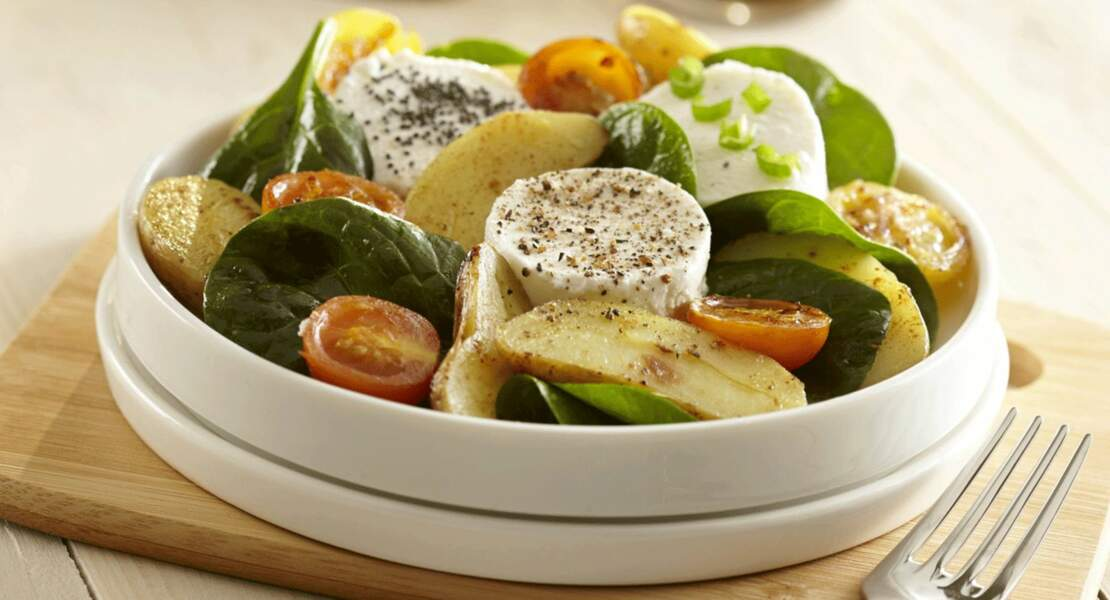 Salade de Rattes du Touquet et chèvre chaud