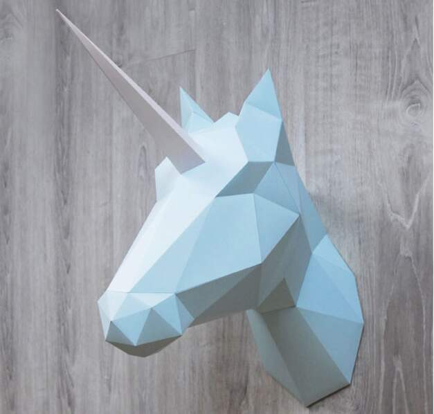 Trophée origami licorne