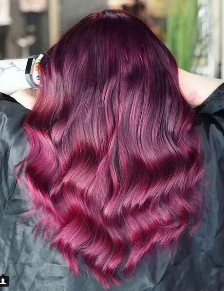 La coloration burgundy effet ombré