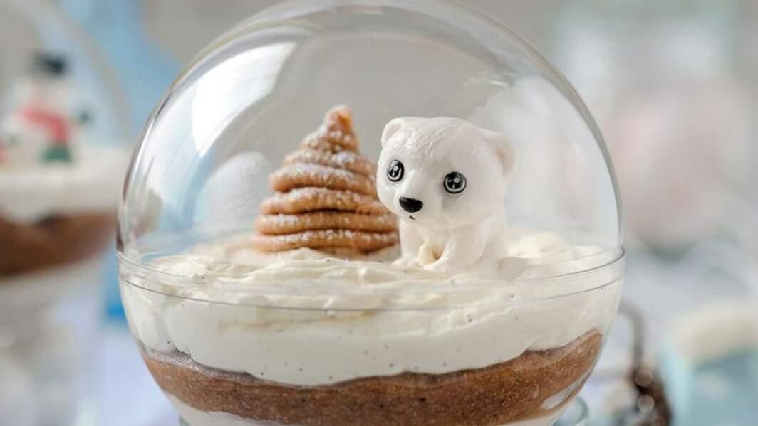 Boules de Noël mont-blanc
