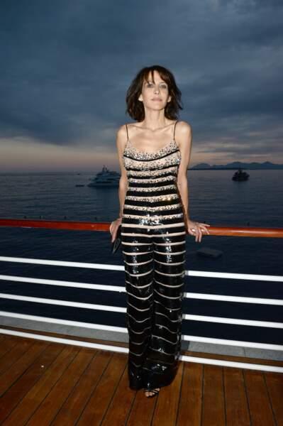 Sophie Marceau en 2014 en robe bustier