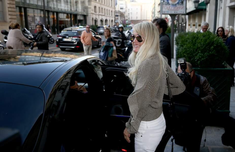Laeticia Hallyday à Paris