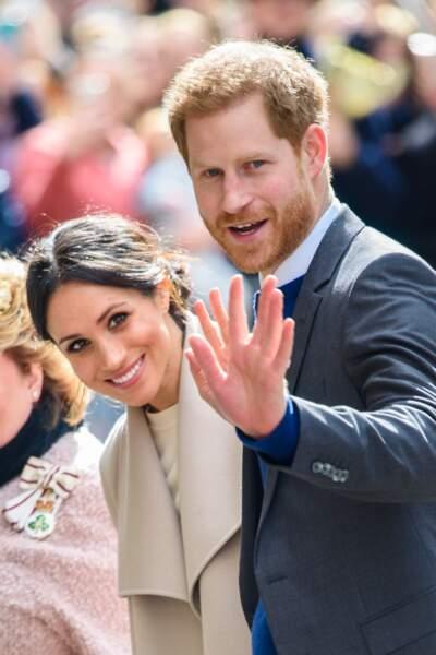 Le prince Harry et Meghan Markle lors de leur visite officielle en Irlande
