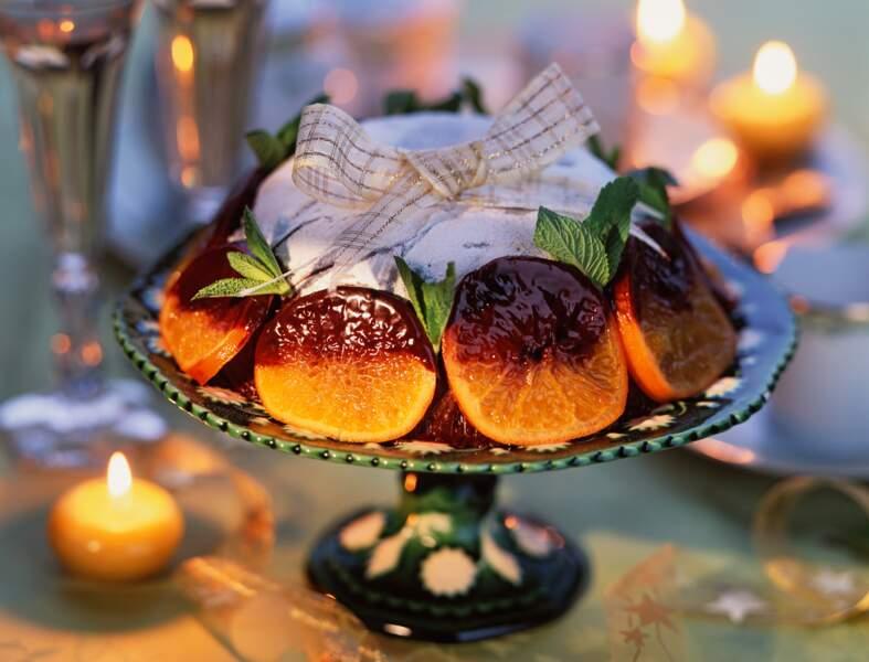 Gâteau et chocolat et à l'orange