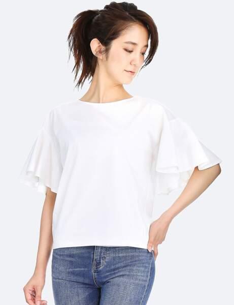 T-shirt blanc : volants