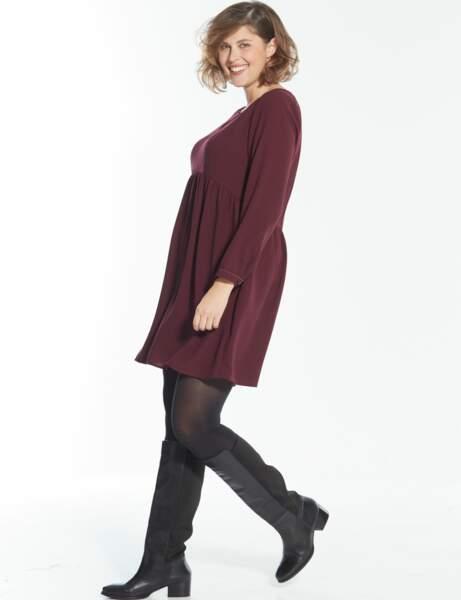 Mode grande taille : robe taille empire