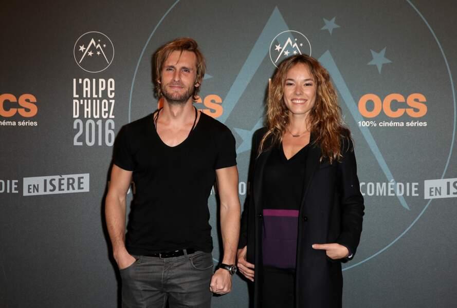 Philippe Lacheau et Elodie Fontan au Festival du film de Comédie de l'Alpes d'Huez le 14 janvier 2016.