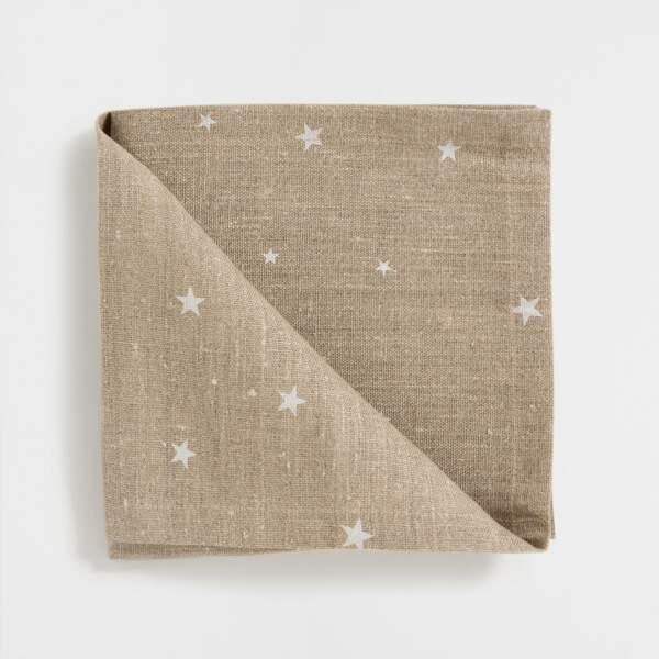 Serviette en coton étoiles