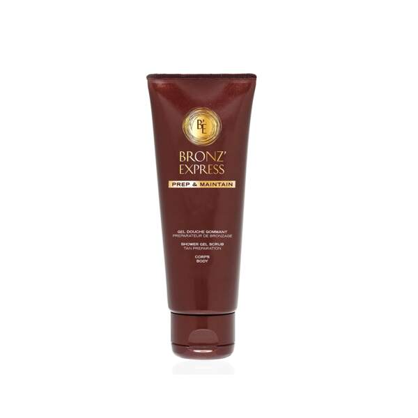 Gel Douche Gommant Bronz'Express, Académie Scientifique, 200 ml, prix indicatif : 23€
