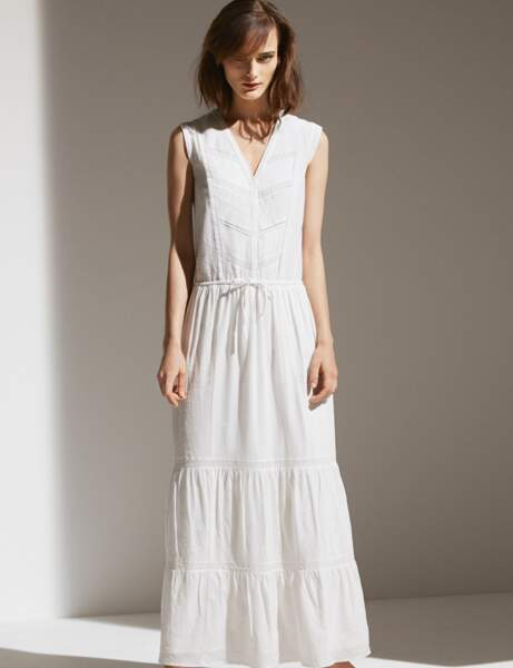 Robe blanche : longue