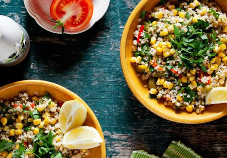 Salade de quinoa croquante, carottes et radis