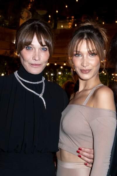 Avec le top model Bella Hadid