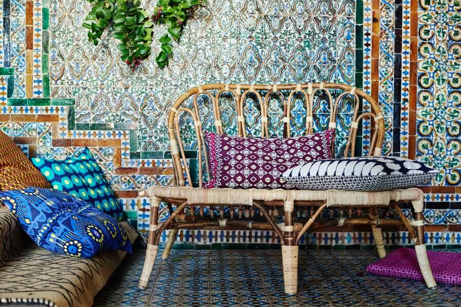 Des objets tressés et des textiles batik chez IKEA